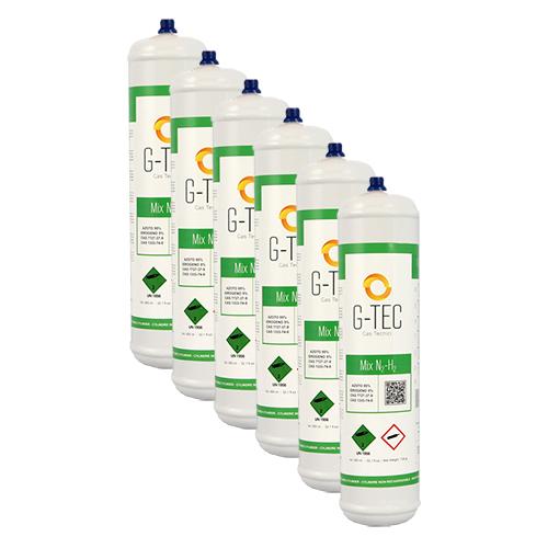 Bombola G-MIX - miscela cercafughe AZOTO IDROGENO (AZOIDRO) da 0,95 litri/0,105 mc (105 liters) - conf.ne 6 pezzi