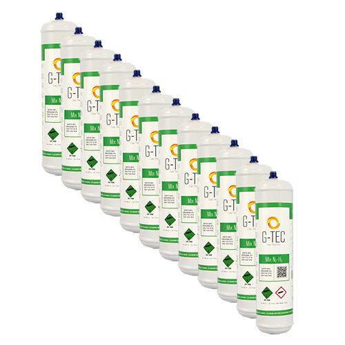 Bombola G-MIX - miscela cercafughe AZOTO IDROGENO (AZOIDRO) da 0,95 litri/0,105 mc (105 litri) - conf.ne 12 pezzi