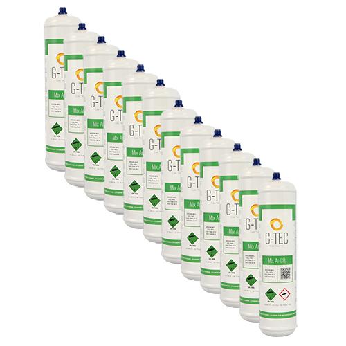 Bombola G-MIX ARGON CO2 da 0,95 litri / 0,117 mc - confezione 12 pezzi