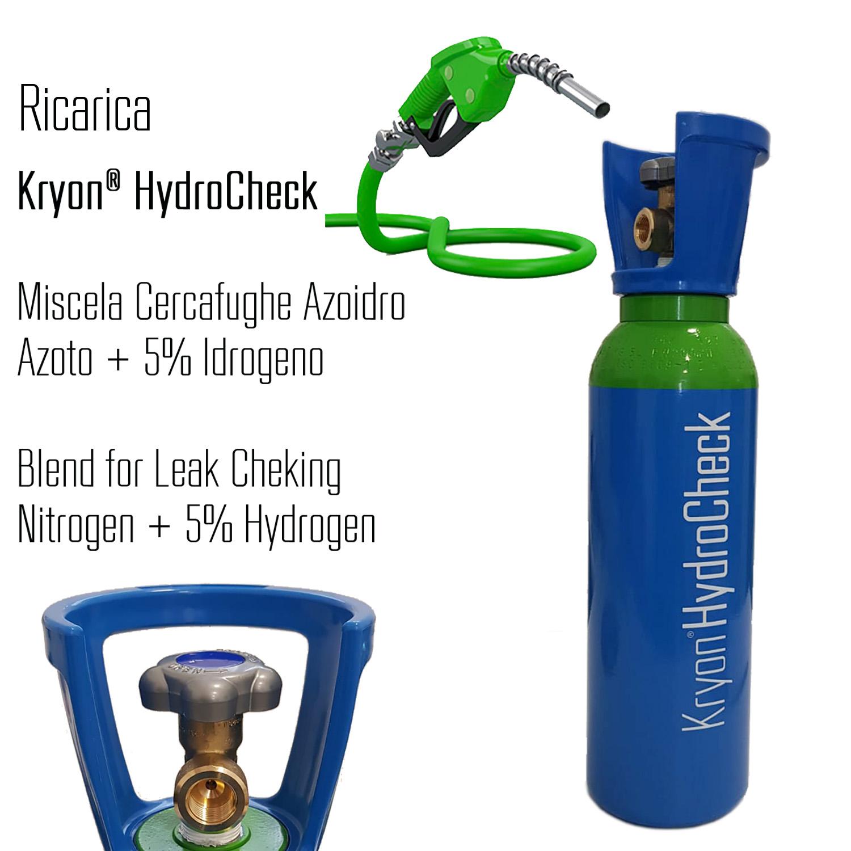 Kryon® HydroCheck - ricarica per bombola 5 litri - 1 mc - azoto 5% idrogeno (miscela cercafughe azoidro)